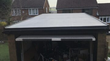 Fit a flat rubber roof in Riddlesden